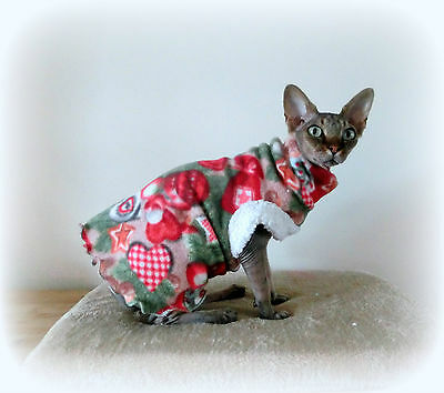 CHRISTMAS costume, Comfy cat top for a Sphynx cat clothes Katze, cat clothes