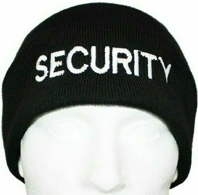 SECURITY Beanie / Woolly Hat (BLACK) for PRISON OFFICER SIA GUARD WARDEN PATROL