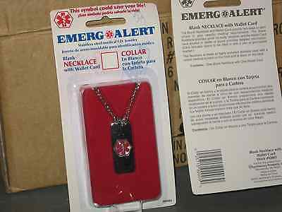 Lot Of 24 Emergency Alert Necklace With Wallet Card