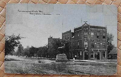 ID Idaho; Payette; Commercial Street; Elk Statue; Coughanour Block; 1910