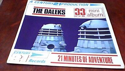 DOCTOR WHO THE CHASE THE DALEKS 2nd UK PS EP 1966 GERRY ANDERSON BARRY GRAY RARE
