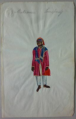 INDIAN MINIATURE painting 19TH CENT
