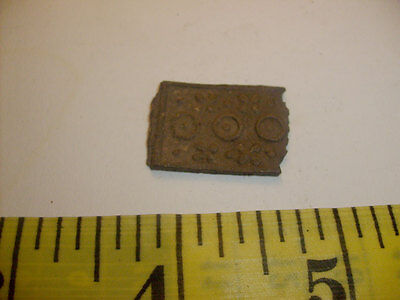 Ancient Roman Bronze Part with Solar Signs