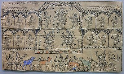 Indian Miniature Drawing 19Th Cent