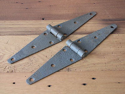 2 Vintage Strap Hinges Vintage Farm Barn Door Industrial Metal Rustic Antique
