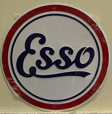 """ESSO GAS & OIL 12"""" Embossed Metal Sign gas gasoline service station auto   rd-37"""