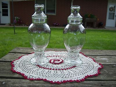 2 Vintage Brach's Drugstore Candy Apothecary Jars - Bathroom Cosmetic/Home Decor