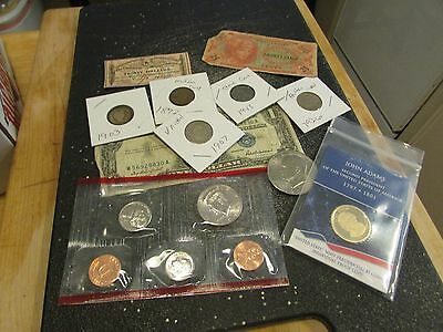Collection Of Old Us Coins And Currency   Set 7