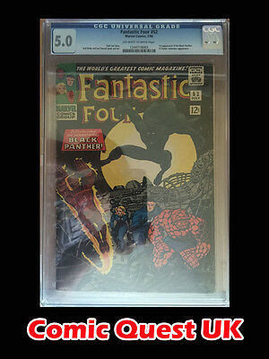 Fantastic Four #52 ⭐️ CGC 5.0 Graded ⭐️ 1st First Black Panther ⭐️ Marvel Movie