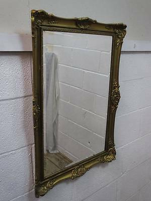 Distressed Gilt Resin Framed Wall Hanging Bevelled Edge Mirror.