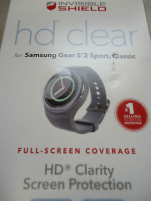 ZAGG InvisibleShield HD Clear Screen Protector Samsung Gear S2 Sport Classic
