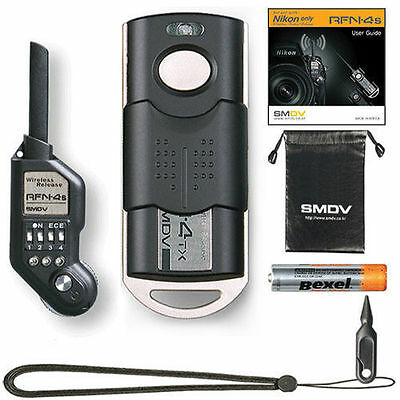 SMDV Wireless Shutter Release RFN 4s for Nikon MC30 D4 D3 D2 D810 D800 D700 D300