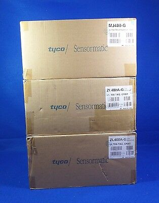 2000 Tyco Sensormatic Zl400A-G Ultra Tag Gray With 1000 Pins Gray  Mj400-G