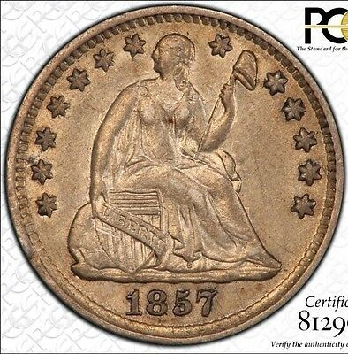 1857 10HC Seated Liberty Half Dime PCGS AU For Auction