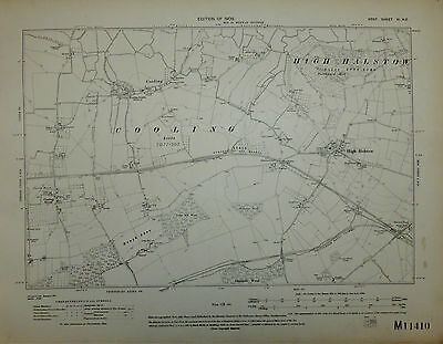 Kent 'High Halstow - Cooling' Large scale Ordnance Survey map, Surveyed 1861