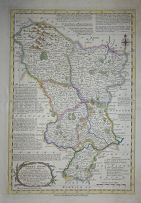 Rare c1765 map 'Derbyshire' by Emanuel & Thomas Bowen