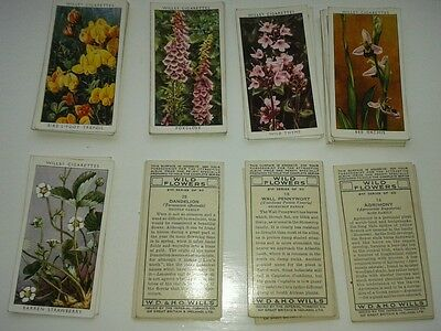 Wild Flowers - 2nd series - A full set of 50 cards issued by Wills adhesive back