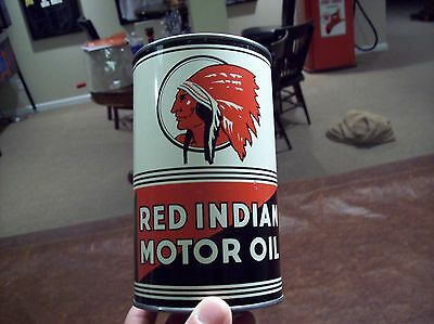 Red Indian Oil Can Near Mint Condition
