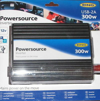 Ring Power Source Power Inverter 300w With USB