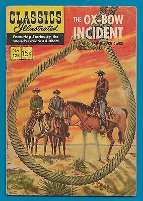 Classics Illustrated Comic Book 1955 The Ox-Bow Incident  #125 G #734