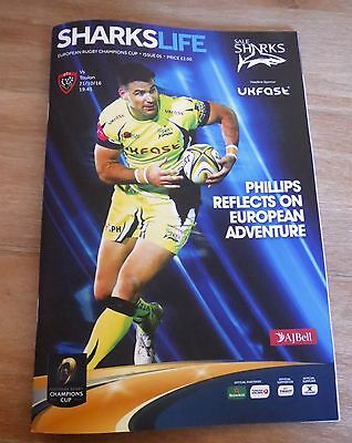 Sale Sharks v Toulon Champions Cup Official Programme - 21/10/2016
