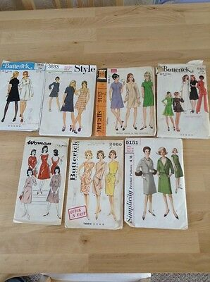 Vintage '50s And '60s Sewing Patterns.