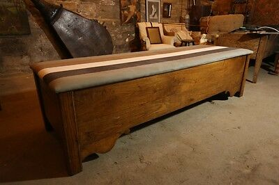 18th Century Oak Trough Blanket Box