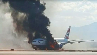 New 6 X 4 Photograph Boeing 777 Fire