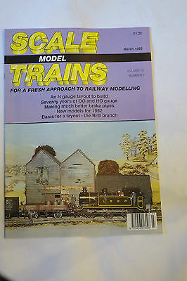 Scale Model Trains March 1992