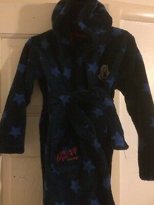 Blue Mickey Mouse Dressing Gown Age 18-24 Months