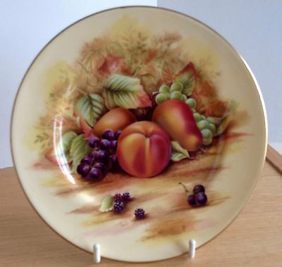 """Aynsley Orchard Gold Fruits Side Plate 6¼"""""""