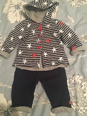 Mamas And Papas Baby Boys Reversible Padded Outfit Age 6-9 Months