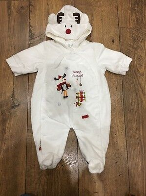 Mamas And Papas Baby Christmas Snow Suit/outfit Unisex,girl/boy Size 0-3 Months