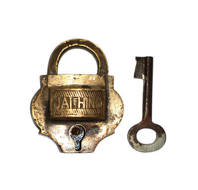 A Lovely Vintage very Old genuine Brass made Padlock Lock with a Key from India