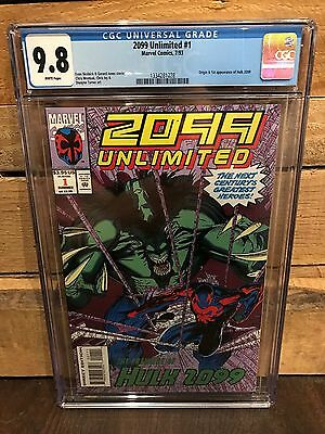 2099 Unlimited #1 Cgc 9.8 Nm/mt Origin & 1St App Of Hulk 2099 (Id 7469)