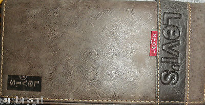 Levi's Soft Leather Feel Brown Wallet~Exc~Stunning