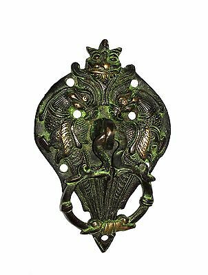 An Indian Traditional & Attractive Brass Made TWO PARROTS design DOOR KNOCKER