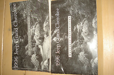 1996 Jeep Grand Cherokee Owners Manual & Warranty Book