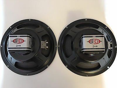 """Eminence Legend 1028K Pair 8ohm 10"""" Alnico Speakers Perfectly Broken In"""
