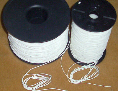 Roman Shade/Blind Repair Lift Cord Nylon Poly 100 FEET in 0.9mm OR 1.4mm White