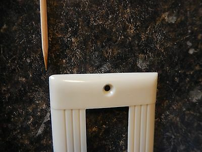 Flawed NOS Sierra Bakelite Double Rocker Single Switch Plate Cover~Free Ship!