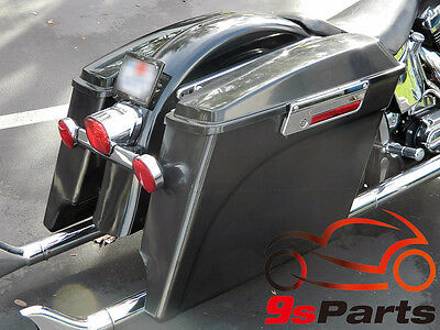 """5"""" Stretched Extended Hard Saddle Bags For Harley 1993-2013 Road King Glide EVO"""