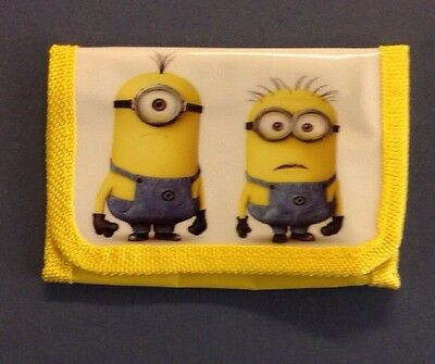 Minions Kids Wallet Velcro Zip Coin Purse Despicable Me Free Post UK