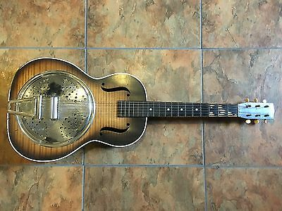 Vintage Circa 1930s Melofonic Acoustic Guitar Slide Lap Steel Resonator