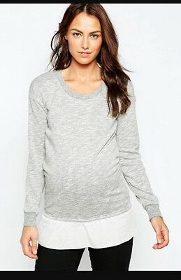 Asos Mamalicious Knitted Jumper With Frill