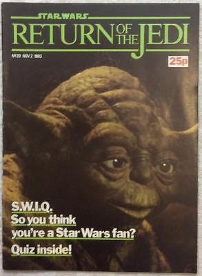 Return of The Jedi #20 (1983 Marvel UK) Good condition for age Bagged, boarded