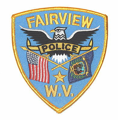 FAIRVIEW WEST VIRGINIA WV Police Sheriff Patch STATE FLAG SEAL EAGLE ~