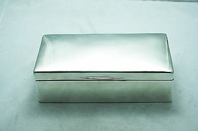 Superb Solid Sterling Silver Cigar Humidor Box Dated - London 1920