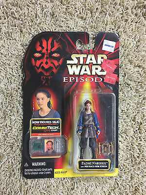 Star Wars Episode 1 Phantom Menace PADME NABERRIE WITH POD RACE ACTION FIGURE