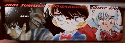 Shogakukan Japan Pencil Case & Pin Set Inuyasha Pokemon Hamtaro Conan Doraemon